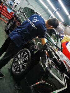 Lexus LX570 керамическое покрытие Opti-Coat Pro
