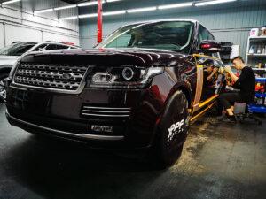Полировка автомобиля премиум сегмента Range Rover Vogue