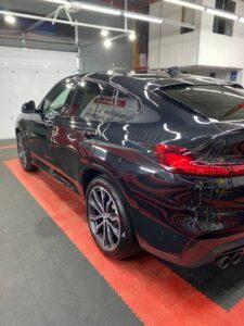 BMW X4 Полировка кузова, керамика, оклейка глянцевых вставок салона полиуретановой плёнкой